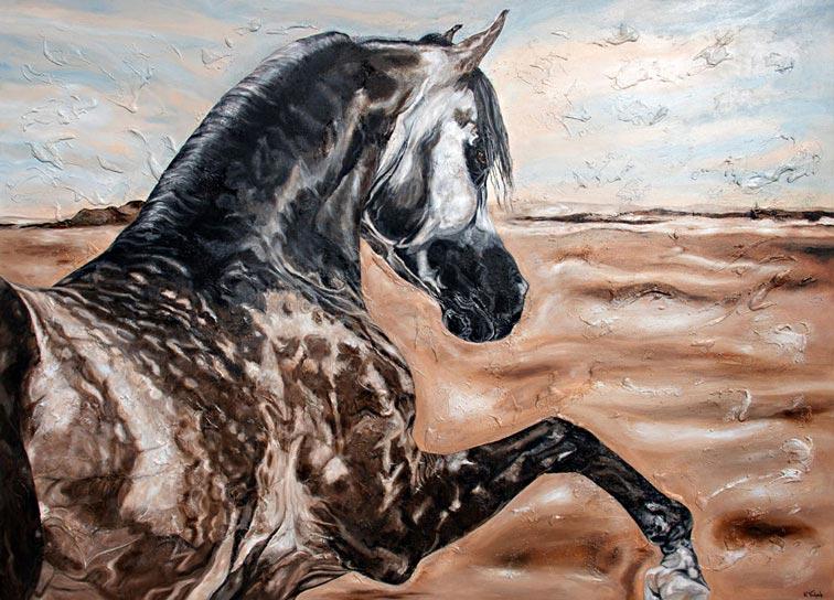 Araber Pferd im Auftrag malen lassen