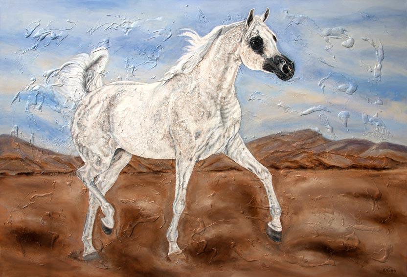 Araber Pferd nach Foto malen lassen