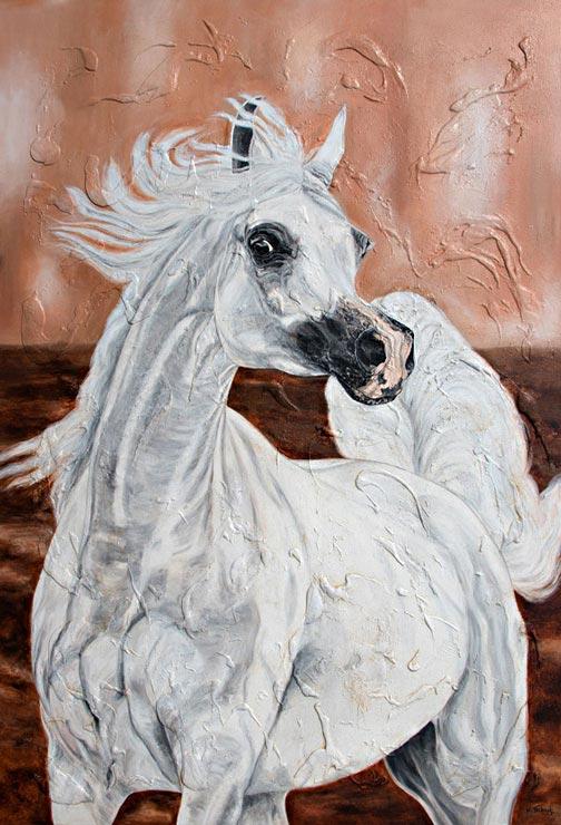 Araber Pferd auf Leinwand