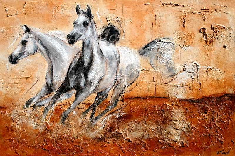 Araber Pferd abstrakt gemalt