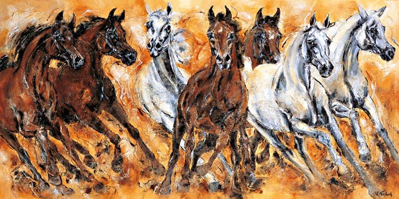 Arabische Pferdeherde Gemälde