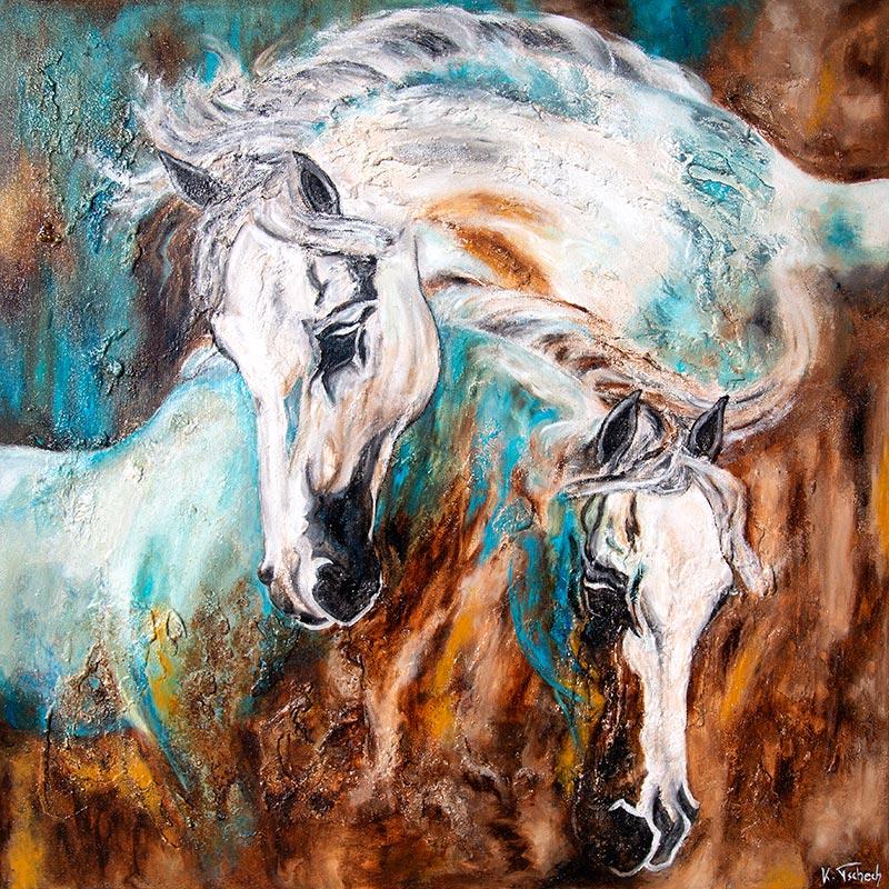 Abstraktes Pferdegemälde