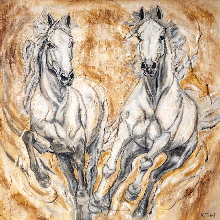 Schimmel gemalt von Kerstin Tschech