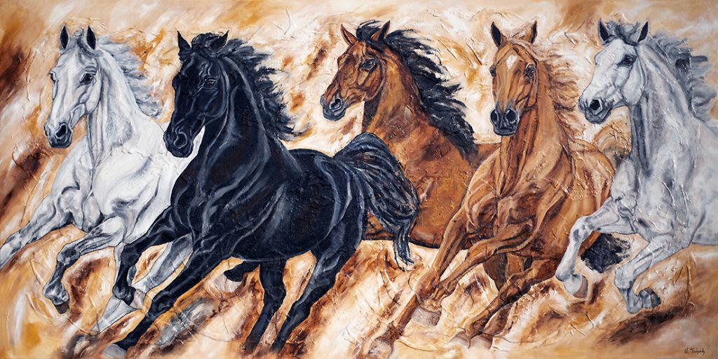 Warmblüter Kerstin Tschech Pferdegemälde